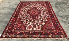 Breathtaking Hand Knotted Vintage Ceena Wool Area Rug 5 x 4 Ft