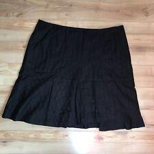 Lapis Size 2X Black Cotton A Line Skirt