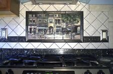 Art Mural French Café Ceramic Backsplash Bath Tile #310