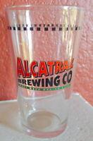 Alcatraz Brewing Co Pint Beer Glass Souvenir Orange CA Defunct
