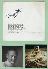 Buzz Aldrin Astronaut Signed Autographed Note dated 1970, + Offical NASA Photo