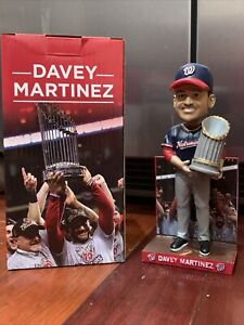 RARE 2020 Davey Martinez SGA Bobblehead 2019 World Series Washington Nationals