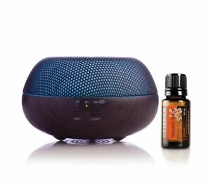 doTERRA Brevi Walnut Diffuser + Harvest Spice 15ml Essential Oil Aromatherapy