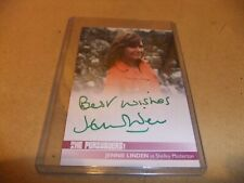 JENNIE LINDEN JL2 AUTOGRAPH CARD THE PERSUADERS ROGER MOORE TONY CURTIS GREEN