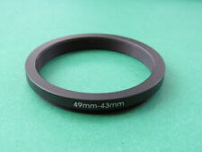 49mm-43mm Stepping Step Down Male-Female Lens Filter Ring Adapter 49mm-43mm