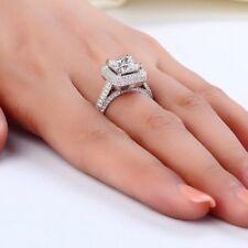2.50CT Princess Cut Diamond Solitaire Engagement Ring 14K White Gold Finish