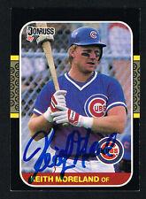 Keith Moreland #169 signed autograph auto 1987 Donruss Baseball Trading Card