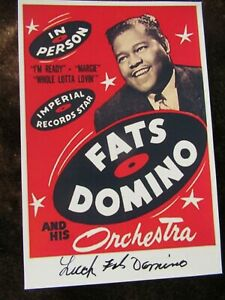Fats Domino Hand Signed Photograph LOT 2