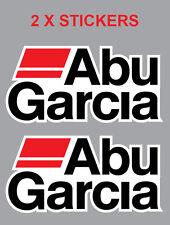 2 X ABU GARCIA DECAL STICKER FOR BOATS /FISHING 209MM X 102MM