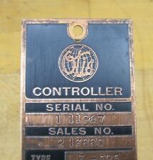 Old OTIS Elevator Sign Copper Controller Tag Architectural Equipment Nameplate