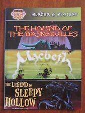 HOUND OF BASKERVILLES-MACBETH-SLEEPY HOLLOW GRAPHIC FICTION 2007 EX-LIB EXC