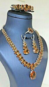Turkish Handmade Jewelry 925 Sterling Silver Alexandrite Stone Women Set