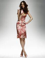 COLLETTE DINNIGAN pink Monet print stunning silk ruffle dress size Medium