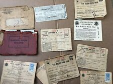 Lot of WWI & WWII Ration Books Stamps for Gas Sugar Etc.