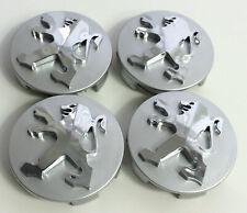 4X 60mm Silver Car Refitting Wheel Center Hub Caps Rim Emblems Badge For Peugeot