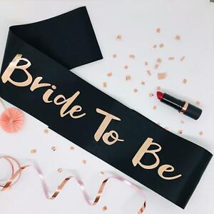 Black and Rose Gold Hen Party Sashes Bridal Shower Gift Ideas Hen night