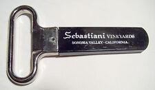 Au So Wine Puller Bottle Opener Corkscrew SEBASTIANI VINEYARDS Sonoma Valley, CA