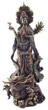 "14"" Quan Yin Avalokiteshvara on Dragon Kuan Statue Guan Eastern Deity Kwan Asian"