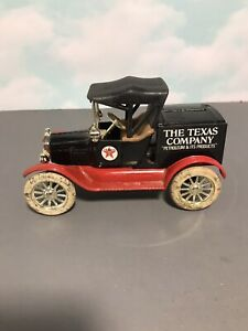 Vintage 1919 Ford Model T Runabout Cast Iron Toy Ban (1980's)