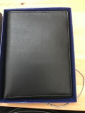 Royce Leather Passport & Card Holder  - Leather - Black Travel Wallet NEW NIB
