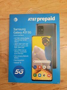 """NIB-🔥 AT&T Prepaid (locked) Samsung Galaxy A51 5G SM-A516U 6.5""""HD+/128GB/Black"""