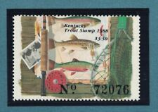 KYT18 - Kentucky State Trout Fishing Stamp. Single. MNH. OG.