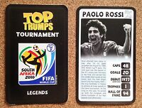 TOP TRUMPS Tournament 2010 World Cup football card - VARIOUS (Lot 01)