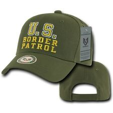 Olive Green Border Patrol Police Cop Sheriff Cotton Baseball Cap Hat Caps Hats