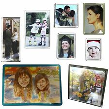 More details for blank acrylic photo fridge magnets, door plaque, rectangular, jumbo, square