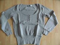 LA REDOUTE schöner Pullover mit Knopfleiste hellgrau Gr. 44/46 w. NEU  BM3