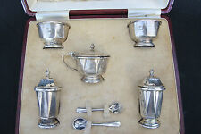 London Mappin Webb Sterling Silver Set  Salt and Pepper shakers container (#412)