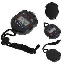 Waterproof Handheld Digital LCD Stopwatch Sports Chronograph Counter Timer Watch