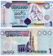 Libya One Dinar Muammar Gaddafi Uncirculated note