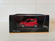 SCHUCO MODELS - OPEL AGILA - RED PAINT - 1/43 SCALE MODEL CAR - OPEL DEALER