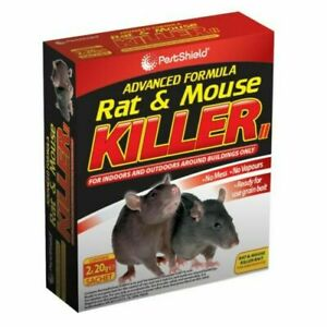 Rodent Poison Bait Killer - Strong Strength - Rat & Mouse Control 2 x 20g