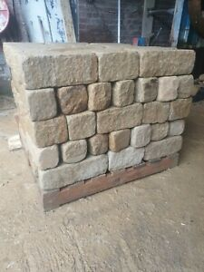 Natural York stone weathered walling tumbled finish backed off ready to lay140mm