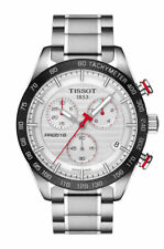 Tissot PRS 516 Chronograph (T100.417.11.031.00) Men's Stainless Steel Wristwatch with Silver Dial