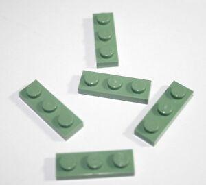 5x LEGO® Platte 1x3 3623 NEU Sand Grün