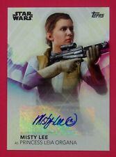 2020 Women of Star Wars Misty Lee as Princess Leia Organa Autographs #A-Ml