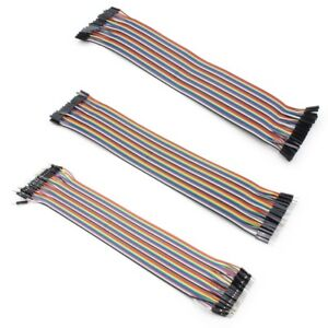 40Pcs 20cm Jump Wire 2.54mm Pitch Ribbon Cable Breadboard DIY Long Female Male