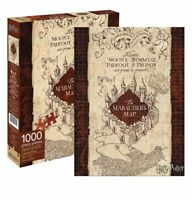 Harry Potter Hogwarts Marauders Map Aquarius 1000 Piece Puzzle New Sealed Box