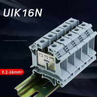 10pcs UIK16N terminal block UIK-16N 16MM square voltage line rail connector