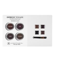 New Anastasia Beverly Hills Dipbrow Pomade Sample Card& Brush Deep Brown - Black