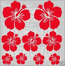 HIBISCUS FLOWERS QTY 9 DECALS Capt'n Skullys Stickers Online MPN 924 M/purpose