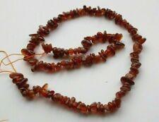 Dark Orange Garnet Chips Small Nugget Assorted Size Loose Natural Gemstone Beads
