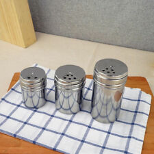 Stainless Steel Dredge Salt / Sugar / Spice Shaker Seasoning Cans with Rotating