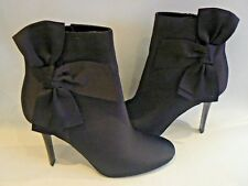 M&S Marks & Spencer Black Satin Ankle Boots Insolia UK Size 6.5 NEW
