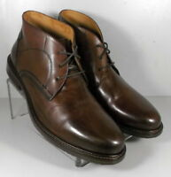 209796 MSBT50 Men's Shoes Size 9.5 M Brown Leather Boots Johnston & Murphy