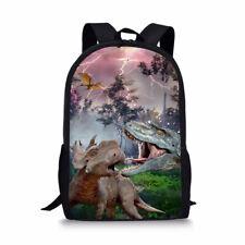 Cool Dinosaur Boys Girls School Backpack Bookbags Women Travel Laptop Rucksack