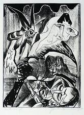 Hermann Naumann-traumgesichte-kreidelithografie 1990